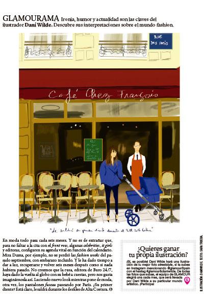 Ilustración moda Dani Wilde Glamour