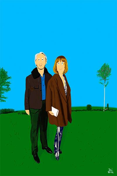 Retrato ilustrado personalizado Dani Wilde
