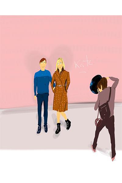 ilustración moda Dani Wilde Vuitton kate Moss