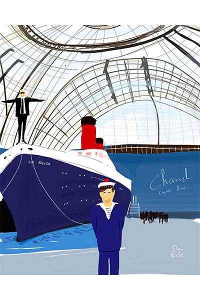 Ilustración moda Dani Wilde Chanel