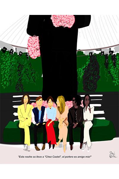 ilustración moda Dani Wilde front row Dior