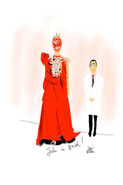 Ilustración moda Dani Wilde Galiano