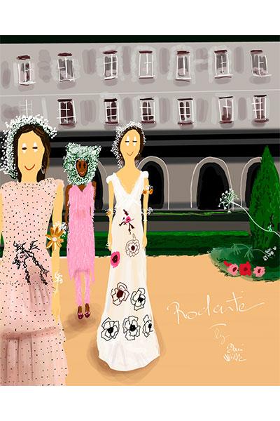 ilustración moda Dani Wilde Rodarte