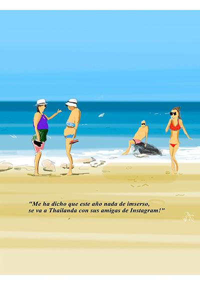 Dani Wilde Marbella ilustracion