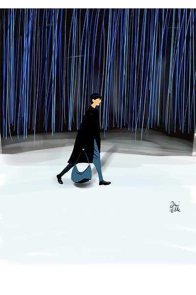 ilustración Dani Wilde desfile Zegna