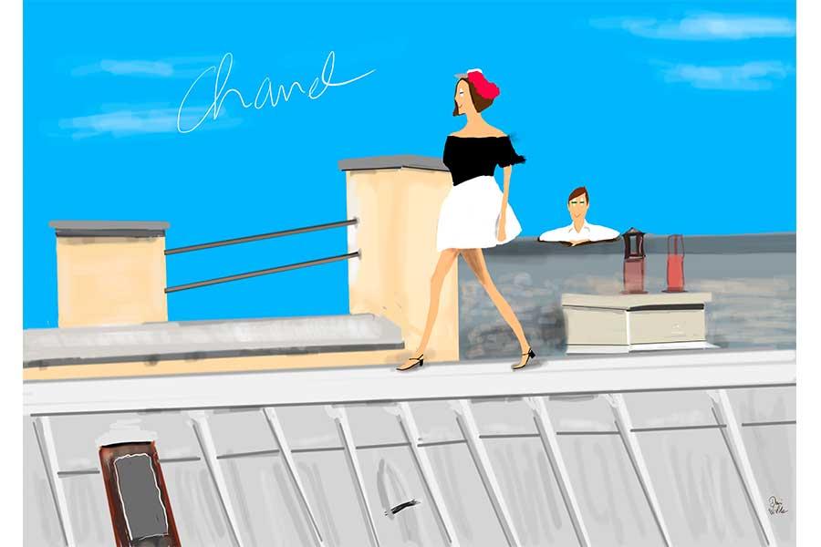 ilustración Dani Wilde desfile Chanel