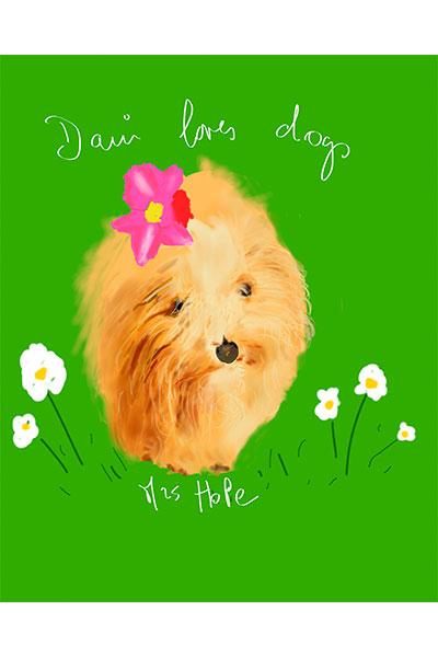 retrato de perro personalizado por Dani Wilde Hope