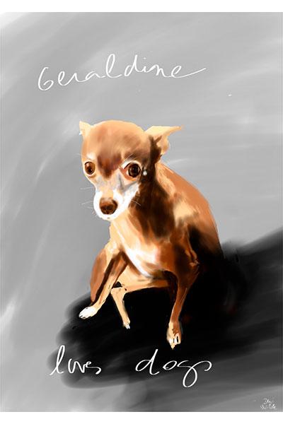 retrato de perro personalizado por Dani Wilde chihuahua