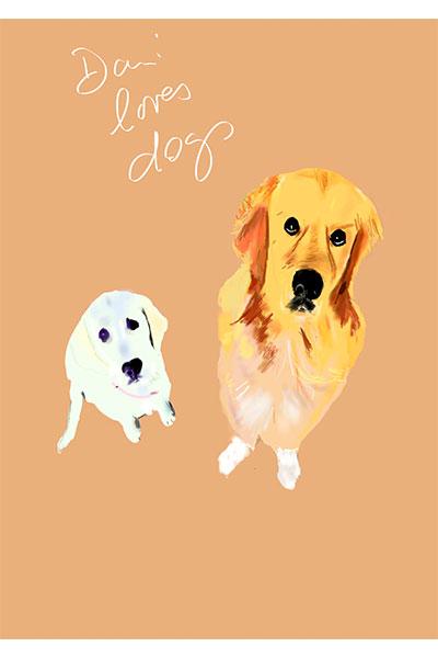 retrato de perro personalizado por Dani Wilde labrador Jordi
