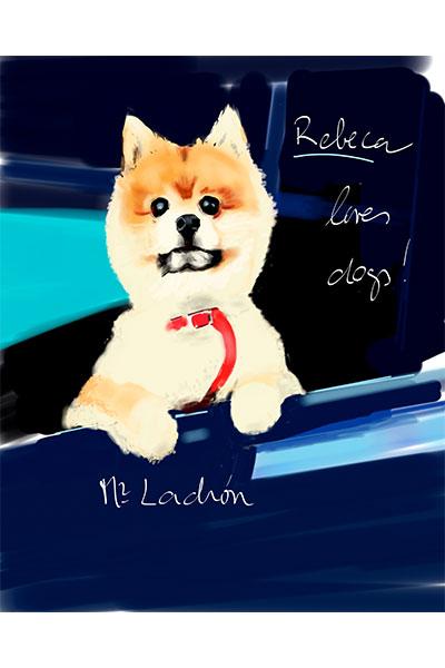 retrato de perro personalizado por Dani Wilde ladran