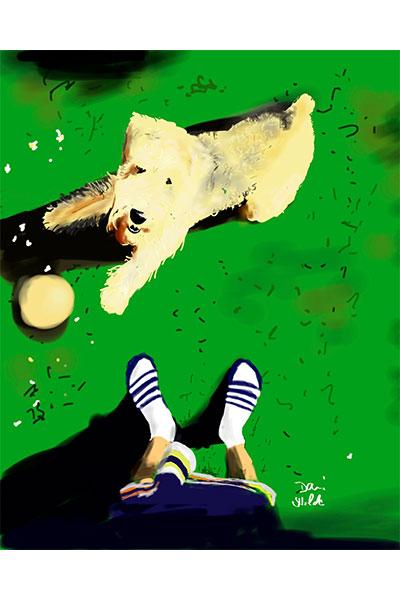 Retrato perro Pelayo por Diaz Dani Wilde