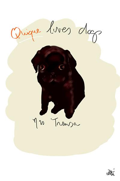 retrato de perro personalizado por Dani Wilde pequeño