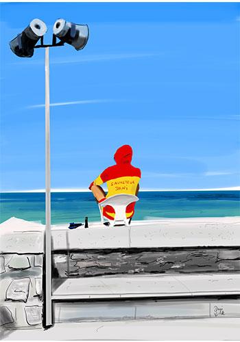 illustration biarritz cote des Basques