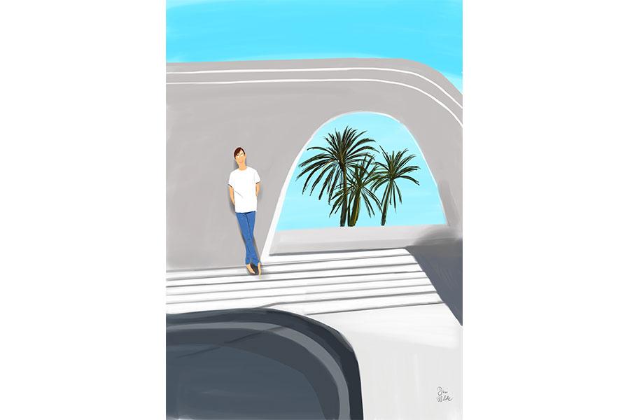 Ilustracion palmeras Dani Wilde