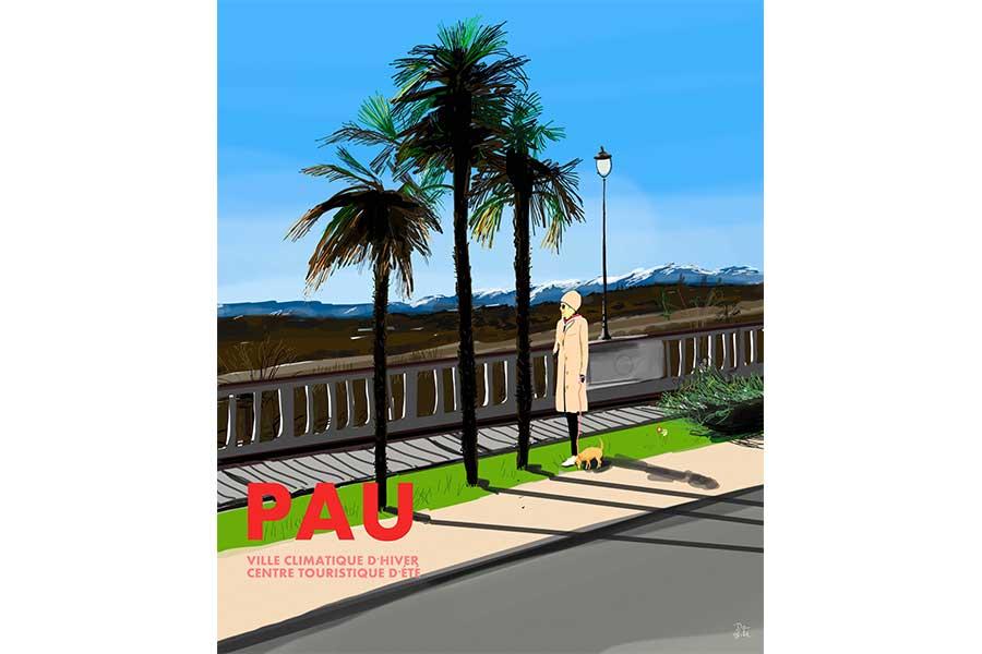 Ilustración poster ville de Pau