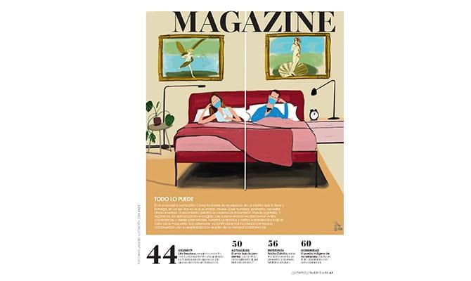 Ilustración de Dani Wilde para Marie Claire